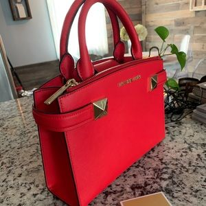 Red Sought After Michael Kors Handbag